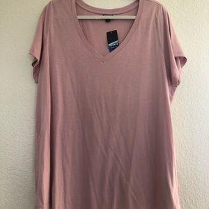 Salmon Torrid T shirt size 2